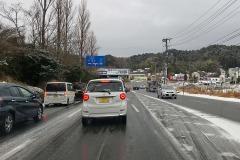 1/12 市内各所で積雪、朝の通勤時間帯に大きな影響